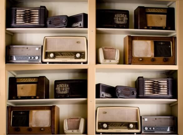 retro ajándék- retro rádió